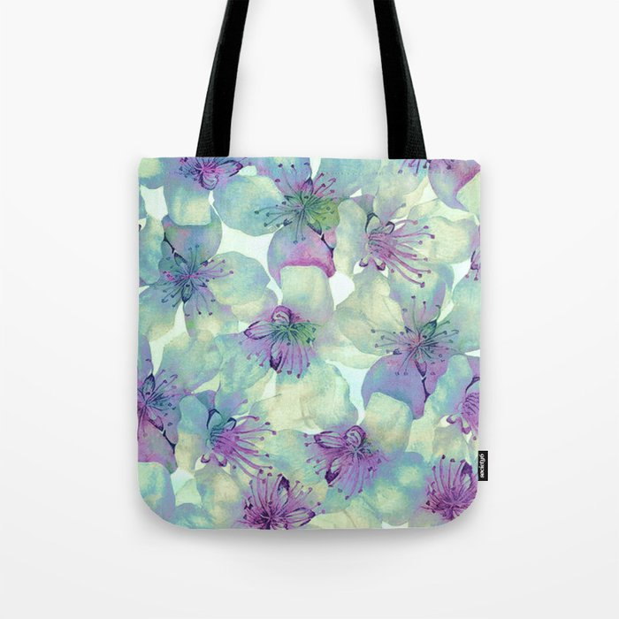 soft floral with purple Tote Bag