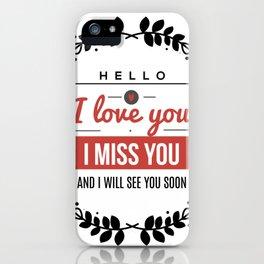 I love you lettering design iPhone Case