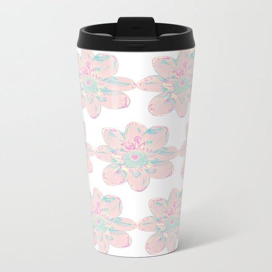 Flower Pattern #4 Metal Travel Mug