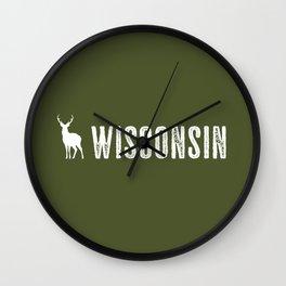 Deer: Wisconsin Wall Clock