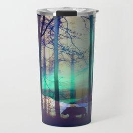 Northern lights abstract Travel Mug