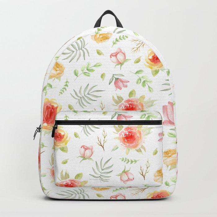 Vintage pattern. Roses Backpack