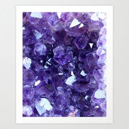 Raw Amethyst - Crystal Cluster Art Print