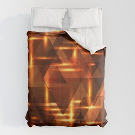 Bronze crossings on a gold metal background. Comforters