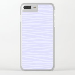 Zebra Print - Lavender Sorbet Clear iPhone Case