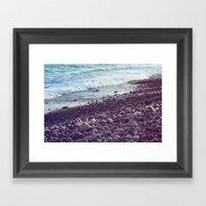 sea coast Framed Art Print