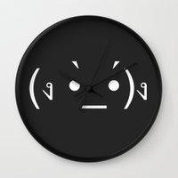 emoji Wall Clocks featuring Fight emoji by typogboutique