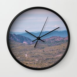 Desert Mountains Wall Clock