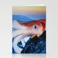 cthulhu Stationery Cards featuring Cthulhu by John Turck