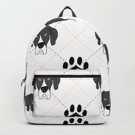 Mantle Great Dane Paw Print Pattern Backpack