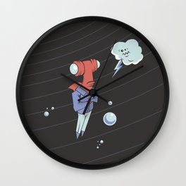 Sharkbait: A Journey Through Time and Space Wall Clock