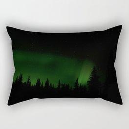 Green Lights Rectangular Pillow