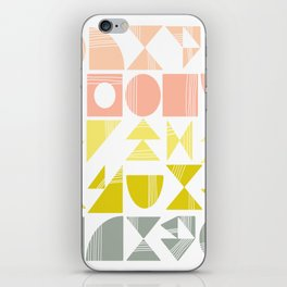 Organic Abstract Shapes in Soft Pastel Colors iPhone Skin
