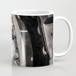 Machine Abstract in Grey Dust Coffee Mug