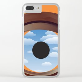 magritte's eye Clear iPhone Case