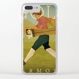 Vintage Golf Clear iPhone Case