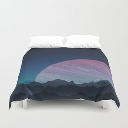 To lands untouched we travel. Duvet Cover