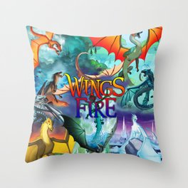 Wings of fire dragon Throw Pillow