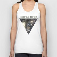 industrial Tank Tops featuring Industrial District by Nigel Goh