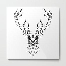 Geometric reindeer head Metal Print