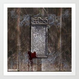 LASCIATE OGNI SPERANZA Art Print