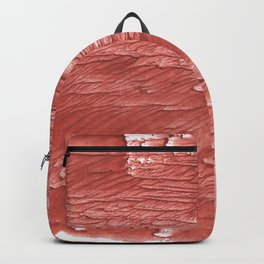 Brick red nebulous wash drawing paper Backpack