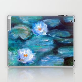 Blue Water Lilies Laptop & iPad Skin