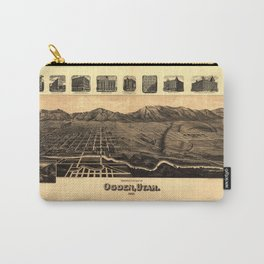 Perspective Map of Ogden, Utah (1890) Carry-All Pouch
