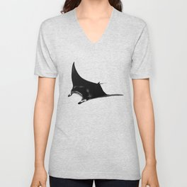 Manta among the bubbles Unisex V-Neck