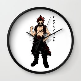 Red Riot Ink Wall Clock
