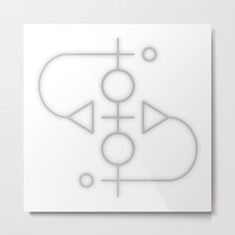 Sigil: Ahthath (To reveal/speak true intentions) Metal Print