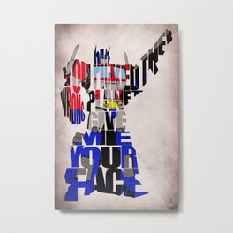 Optimus Prime Metal Print