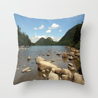 maine Throw Pillows featuring Maine by Raymond Earley
