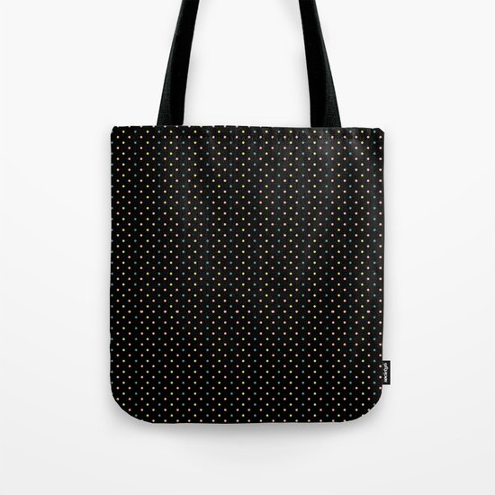 Small dots on black Tote Bag