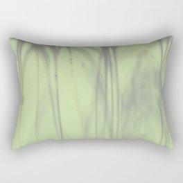 Blurry, curvy and skinny gray, tan and dark sea green drawings Rectangular Pillow