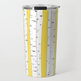 Aspen Forest - Yellow Travel Mug