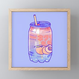 Peach Bubbles Framed Mini Art Print