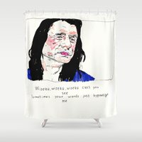 notorious Shower Curtains featuring Notorious W.I.S.E.A.U by withapencilinhand