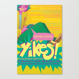 YIKES! poster Canvas Print