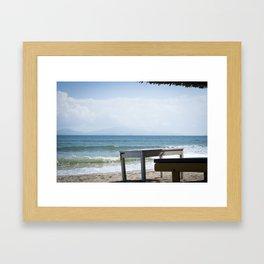 A Moment of Ocean Framed Art Print