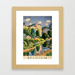placard Belgium Framed Art Print