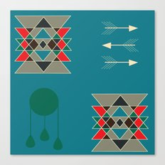 dreamcatcher blue Canvas Print