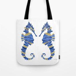 Seahorse – Navy & Gold Tote Bag