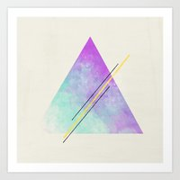 triangle Art Prints featuring Triangle  by Allyson Johnson