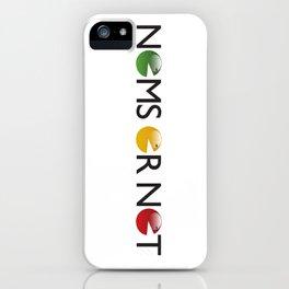 Nomsornot iPhone Case