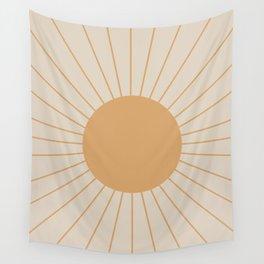 Minimal Sunrays Wall Tapestry