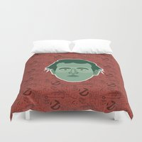 ghostbusters Duvet Covers featuring Peter Venkman - Ghostbusters by Kuki