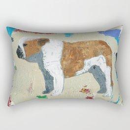 English Bulldog Abstract Art Rectangular Pillow