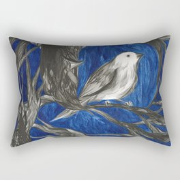 Finch on Branch Rectangular Pillow