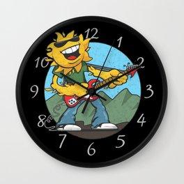 Retro Rockin' Sun Wall Clock